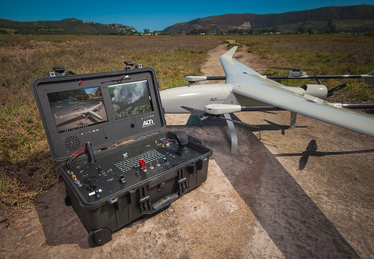 alti transition fixed wing drone and ground station